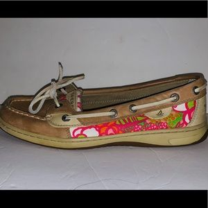 Sperry angelfish floral boat shoes size 8.5